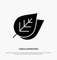 ecology leaf nature spring solid glyph icon vector image