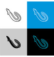 eel fish icon line style symbol of river eel vector image
