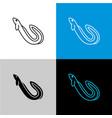 eel fish icon line style symbol of river vector image vector image
