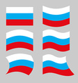 Flag Russia Set of flags of Russian Federation in vector image vector image