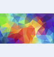 flat triangle multicolor geometric triangle vector image vector image