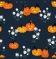 fun hand drawn halloween seamless pattern vector image vector image