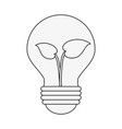 green energy bulb symbol vector image vector image