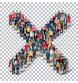 group people shape letter X Transparency vector image vector image