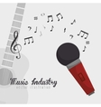 guitar and microphone isolated icon design vector image