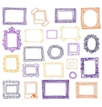 Hand drawn photoframes Doodle vector image vector image