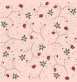 hand drawn seamless pattern with plants and vector image vector image