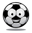 Happy cartoon smiling soccer ball vector image vector image