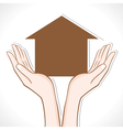 Home in hand vector image vector image