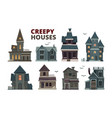 horror house halloween scary gothic village vector image vector image