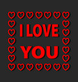 i love you lettering greeting card with red vector image