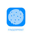 id app icon fingerprint concept personal data vector image