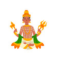 indra indian god of thunder lightning and war vector image vector image