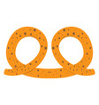 isolated bakery pretzel vector image vector image