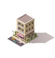 isometric gelateria building vector image vector image