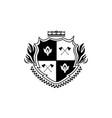knights shield emblem logo or badge vintage vector image vector image