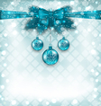 Light background with Christmas traditional vector image vector image