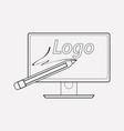 logo design icon line element vector image