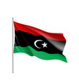 lybia realistic flag vector image vector image