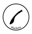 Machete icon vector image
