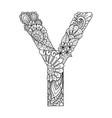 mandala letter y monogram vector image vector image