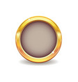 metal gold button vector image vector image