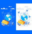 mobile application for traveler flat banner vector image vector image