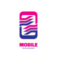 mobile phone soft - logo template concept vector image