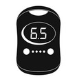 modern glucose meter icon simple style vector image vector image