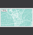 murcia spain city map in retro style outline map vector image vector image