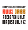 narrow sanserif font with rounded corners vector image vector image