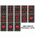 playing cards heart suit poker cards original vector image vector image