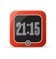 red digital alarm clock icon vector image