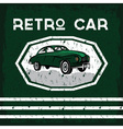 retro car old vintage grunge poster vector image vector image
