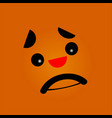 sad face with black eyes vector image