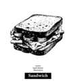Sandwich Vintage fast food hand drawn sketch vector image vector image