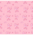 seamless monochrome pink pattern with cute baby vector image vector image