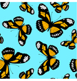 seamless pattern made from butterflies vector image