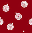 seamless pattern with a christmas ball vector image vector image