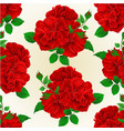 seamless texture bunch three red roses with buds vector image vector image