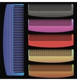Set of Colorful Combs vector image vector image