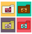 set of flat pictures folder icon vector image