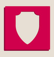 shield sign grayscale vector image vector image