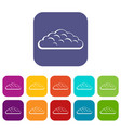 spring cloud icons set flat vector image vector image