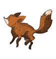 stylized fox in a jump a cartoon fox vector image vector image