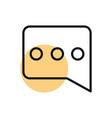 talk bubble message shopping line style dot color vector image