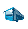 tourist shuttle bus coach retro vector image vector image