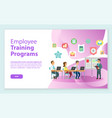 training programs workers and laptop web vector image vector image