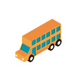 transport double deck bus vehicle isometric icon vector image