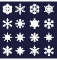 various types of bold white snowflakes eps10 vector image vector image